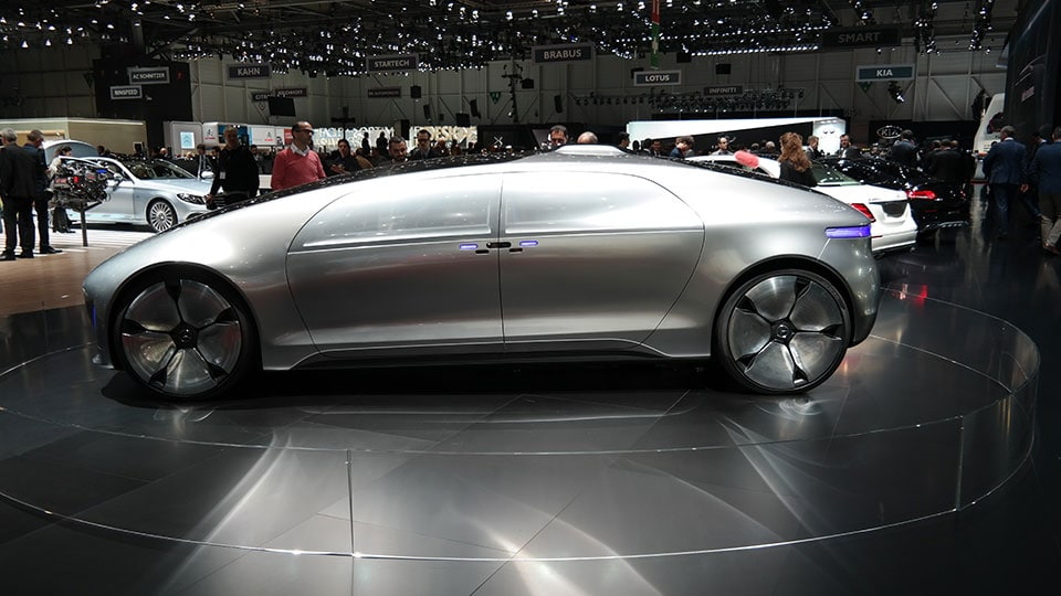 Mercedes F 015 Luxury in Motion at the Geneva Motor Show 2016 (photo taken on the first press day)